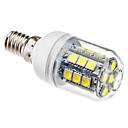 E14 27x5050 SMD 3.5W 300LM 5500-6500K naturlig hvid Lys LED Majskolbe pære (230V)