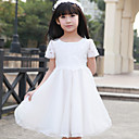 Flower Girl Dress - Trapezio/Stile Principessa Cocktail Maniche corte Tulle