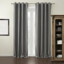 (One Panel) Modern Grey Solid Blackout Curtain