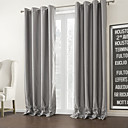 TWOPAGES® Two Panels  Silver Solid Modern Room Darkening Curtain