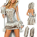 Gray Snowwolf Sexy Women's Animal Costume