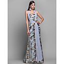Formal Evening / Military Ball Dress - Multi-color Plus Sizes / Petite Sheath/Column Halter Floor-length Jersey