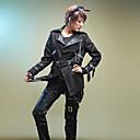 Long Sleeve Black Cotton Punk Lolita Coat with Belt