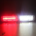 Car 16-led Red White Warning Strobe Flash Light 1pcs