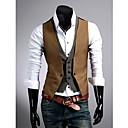 Men'S Slim Faux Two Piece Vest