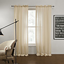(One Panel) Modern Solid Delicate Sheer Curtain