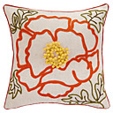 Modern Touchable Stamen Patchwork Polyester Decorative Pillow Cover