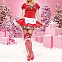 Short-Sleeve Red Frauen Weihnachts-Kostüm