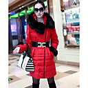 Women's Fur Collar Down Coat With Belt