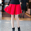 Women's Black/Blue/Red Skirts , Casual/Cute Above Knee