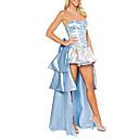 Hot Prinzessin Blue Satin Damen Kostüm