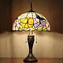 Papillons modèle lampe de table, 2 Light, Tiffany Résine Peinture sur verre