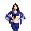 Belly Dance Tops Women's Training Cotton / Tulle 1 Piece Black / Blue / Fuchsia / Pink / Purple / Red / Royal Blue / White / YellowBelly