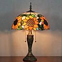 Tournesol Lampe de table Motif, 2 Light, Tiffany Résine Peinture sur verre
