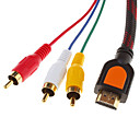 HDMI V1.3 hann til 3RCA video/audio AV-kabel (1,5 m)