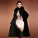 Long Sleeve couverture Faux Fur partito / cappotto casuale