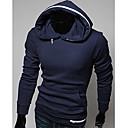 Men's Long Sleeve Hoodie & Sweatshirt , Polyester