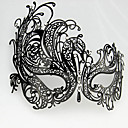 Punk stil Black Metal Hollow Carnival Masquerade Maske med Gemstone