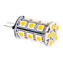 Lâmpada Espiga G4 5 W 370 LM 2500-3500 K Branco Quente 24 SMD 5050 DC 12 V