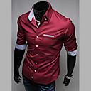 Men's Stand Collar Fashion Long Sleeve Shirt