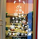 Classic Abstract juletræ vindue klistermærker