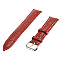 Women's 20mm Bamboo Grain Genuine leather Watch Band (Assorted Colors)