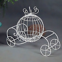 Wedding Décor White Iron Pumpkin Cart Flower Bin/Card Holder/Cash Gift Holder