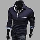 Män Långärmad Mode Casual Polo tröja