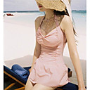 Dame Sexy Halter V Neck Swim Dress