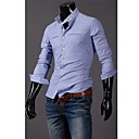 Men's Long Sleeve Shirt , Cotton Blend Casual