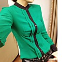 suporte de camisa cor de contraste das mulheres