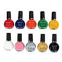 10PCS mixte Couleur Stamping Nail Art Vernis à ongles Impression Kits (12ml)