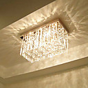 Crystal Flush Mount, 3 Light, Dainty Metal Glass Galvanisering