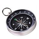 Portable Metal kompass med nøkkelring (Large) - Sølv