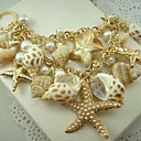 European Style Pearl Shells And Starfish Double Sweater Chain Necklace
