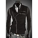 För män Snygg Kontrast Färg Skarvning Jacket