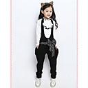 Ruffle κοριτσιού Stand Collar Polka Dots Φόρμες Ένδυση Σετ (Μπλούζα & Φόρμες)