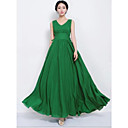 Women's Pure Color Green Dress