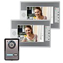 7 Inch Video Door Phone Doorbell Intercom Kit 1-camera 2-monitor Night Vision