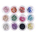 100PCS nail art acrylique Décorations Strass 1.5mm (couleurs assorties, 2.8x2.8x1.5cm)