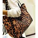 Women's Fashion Leopard Print Big PU etui