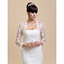 Gorgeous Long Sleeve Lace Evening/Wedding Evening Jacket/Wrap(More Colors) Bolero Shrug