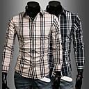Plaid Moda camisa dos homens