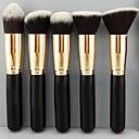 5 Brush Sets Syntetisk Hår Træ Ansigt / Lip / Øjne