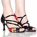 Customized Women's Ankle Strap Satin Latin / Ballroom Dance Shoes