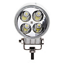 12W (4 * 3W) 780LM 6500K Luz Branca Led Pontual / Work Lamp Waterproof Boat / Deck / Light Truck DC9-32V