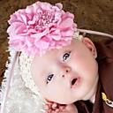 Infantil bonito clipe Baby Girl Peony Cabelo Flor + Stretchy Crochet Headband Hairband Hot