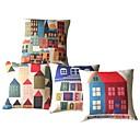 Ensemble de 4 Sweet Home coussin décoratif couverture