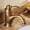 Antique Inspired Bathroom Sink Faucet - Antique Brass Finish