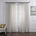 (To paneler) neoklassisk elegant hvid solid øko-venlige sheer curtain